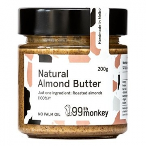 99th Monkey NATURAL Almond Butter 200g