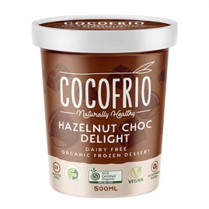 Cocofrio Organic Icecream HAZELNUT CHOC DELIGHT 500ml x 6