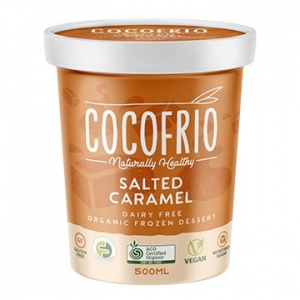 Cocofrio Organic Icecream SALTED CARAMEL 500ml x 6
