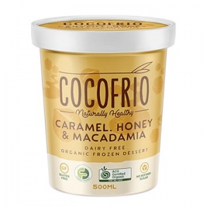 Cocofrio Organic Icecream CARAMEL HONEY MACADAMIA 500ml x 6