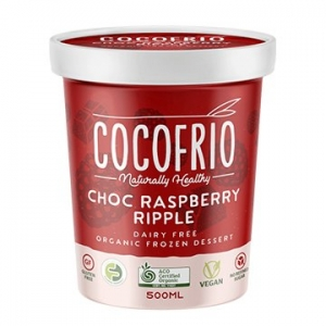 Cocofrio Organic Icecream CHOC RASPBERRY RIPPLE 500ml x 6