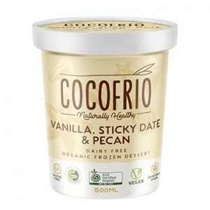 Cocofrio Organic Icecream VANILLA STICKY DATE & PECAN 500ml x 6