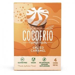 Cocofrio Icecream Cones Salted Caramel 4pack x 6