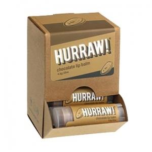 Hurraw Chocolate Lip Balm 4.3g x 24 Display Pack