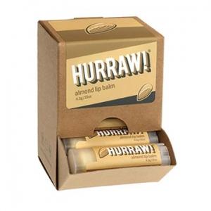 Hurraw Almond Lip Balm 4.3g x 24 Display Pack