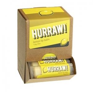Hurraw Lemon Lip Balm 4.3g x 24 Display Pack