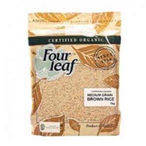 Four Leaf Milling Organic Brown Medium Grain Rice 1kg