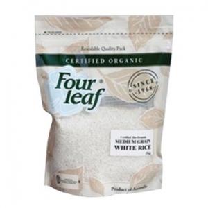 Four Leaf Milling Organic White Medium Rice 1kg